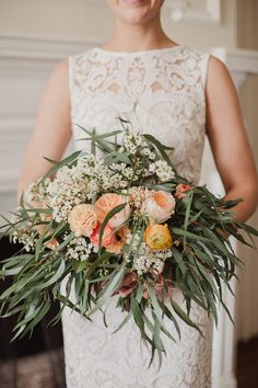 Rustic + colorful bouquet: Photography : Shaun Menary Photography Read More on SMP: http://www.stylemepretty.com/texas-weddings/fort-worth/2016/07/26/this-bride-walked-down-the-aisle-in-the-most-fabulous-pair-of-shoes/