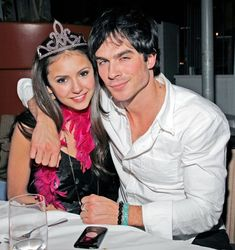 Before they started officially dating, Ian Somerhalder joined Nina Dobrev at Asia de Cuba in LA to celebrate her birthday in January 2010.