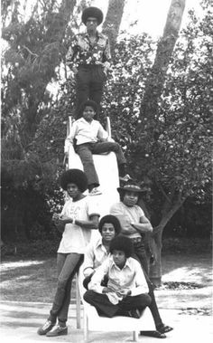 The Jacksons - Jackie Jackson, Michael Jackson, Tito Jackson, Jermaine Jackson, Randy Jackson, and Marlon Jackson.
