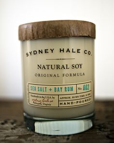 soy candle - SEA SALT and BAYRUM.