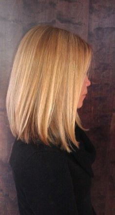 Contemporary LOB (Long Bob) Haircuts 2015 | Fashion #hairstyle #haircut #bob…