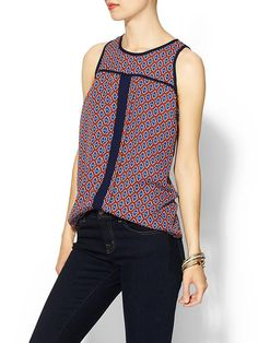 Hive & Honey Printed Piped Tank   Piperlime