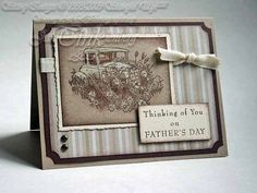 Greeting Card Father's Day Vintage Style Antique Auto by JanTink, $5.95