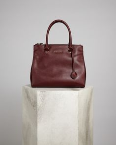 There's a definite timeless appeal to our large textured calf leather tote.