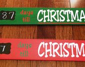 Days Till Christmas Countdown Wood Sign