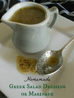 Homemade Greek Salad Dressing or Marinade - so, so, so good!  I could drink this stuff.