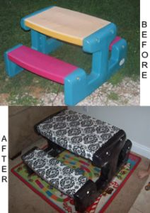 MOM Tip: Kids Picnic Table ReDo #247moms