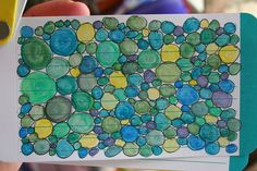 For Index Card a Day project with Daisy Yellow - Circles Sketchbook Challenge, Sketchbook Pages, Art Journal Inspiration, Journal Ideas, Mixed Media Journal, Index Cards, Artist Trading Cards, Mail Art, Puzzle Pieces