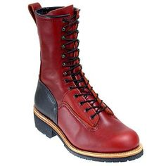 Red Wing, 921 Lineman    Good height, needs to be solid Red