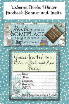 Winter Facebook Banner and Invites for Usborne Books and More - Rachael's BookNook