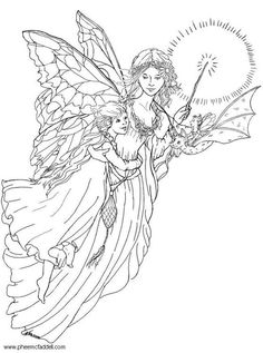 Coloring page light fairy - coloring picture light fairy. Free coloring sheets to print and download. Images for schools and education - teaching materials. Img 6111.