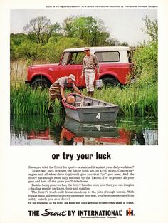 International Scout 1963 Or Try Your Luck Red - Mad Men Art: The 1891-1970 Vintage Advertisement Art Collection