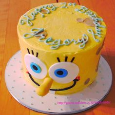 Spongebob smash cake | Flickr - Photo Sharing!