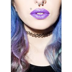 Electric Amethyst Lethal Lipstick (15 CAD) ❤ liked on Polyvore featuring beauty products, makeup, lip makeup, lipstick, lips and manic panic nyc