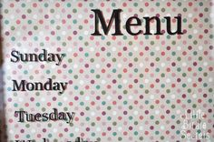 Little Birdie Secrets: holiday weekly menu boards {and how to line up your vinyl lettering}