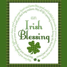 Give someone an Irish blessing... A custom artwork by Jennifer Nilson poster available with other St. Patrick's Day Specials at: https://the-browsing-bay.myshopify.com/collections/st-patricks-day-specials