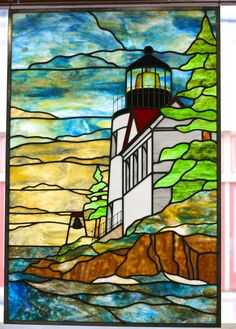 Stained Glass Lighthouse Panel                                                                                                                                                      More