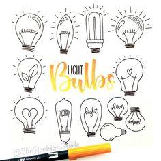 Inspiration   Bujo lightbulb graphic doodling ideas