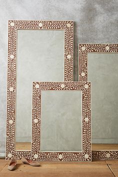DIY Hand Painted Framed Full-Length Mirror