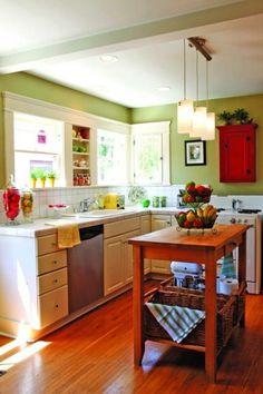 farbe fur kuche kuchenwand streichen, farbe für küche – küchenwand in kontrastfarbe streichen #farbe, Design ideen