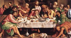 Last meal of Jesus with his friends - by Jacopo Bassano, 1542
