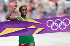 Tiki Gelana - Athletics - London 2012 - Women's marathon