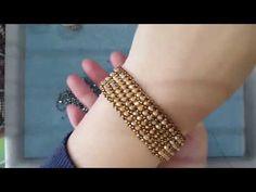 비즈악세사리,팔찌만들기,seed bead - YouTube Bohemian Bracelets, Woven Bracelets, Seed Bead Bracelets, Handmade Bracelets, Seed Beads, Handmade Jewelry, Bracelet Making, Jewelry Making, Diy Schmuck