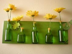 Bottle line up Recycling, Diy Recycle, Decorating Your Home, Diy Home Decor, Easy Crafts, Easy Diy, Dose, Recycled Crafts, Home Projects