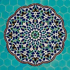 Photo about Islamic mosaic pattern with blue tiles, Iran. Image of religious, islam, mosaic - 41034206 Islamic Motifs, Islamic Art Pattern, Pattern Art, Blue Mosaic, Blue Tiles, Decorative Lines, Arabic Calligraphy Design, Islamic Posters, Persian Pattern