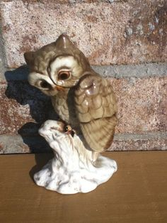 Vintage owl 70s home decor retro mod nature by UpcycledWhimsies, $14.00