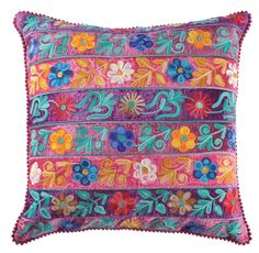 Embroidery Throw Pillow (Set of 2)