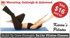 """THREE x 60min PILATES Classes  """"Build Up Core Strength with your Mum this Mother's Day"""" #pilates #fitness"""