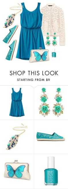 """Butterfly Effect"" by amritasinghjewelry on Polyvore featuring prAna, Amrita Singh, Schutz and Essie"