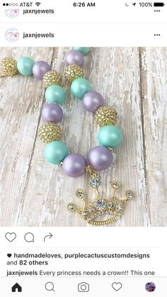 Chunky Bead Necklaces, Chunky Beads, Beaded Necklace, Pearl Earrings, Beaded Bracelets, Necklace Ideas, Pearls, Jewelry, Beaded Collar