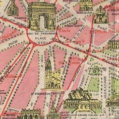Map Champ De Mars France French Paris Eiffel Tower Digital Image
