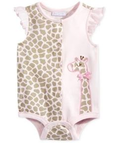 First Impressions Giraffe Cotton Creeper, Baby Girls (0-24 months), Only at Macy's - Pink