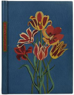 Vintage Book Cover: Tulips and Tulipomania' Morocco leather Bound by Jean Gunner, 1982 (USA)