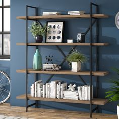 Compare & Buy Champney Modern Etagere Bookcase By Zipcode Design Shelf Furniture, Home Office Furniture, Interior Design Living Room, Living Room Designs, Living Room Furniture, Modern Furniture, Living Room Decor, Furniture Design, Furniture Ideas