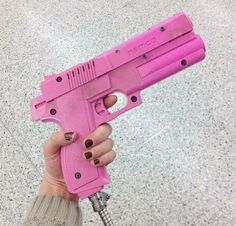 pink and gun image