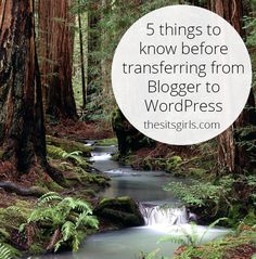 Five things that will help to make your transition from blogger to wordpress smooth, and stress-free.