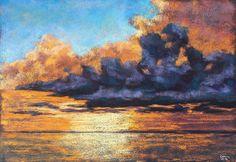 clouds,sky,himmel,wolken,abendstimmung, sunset,soft pastels,kreide,malerei