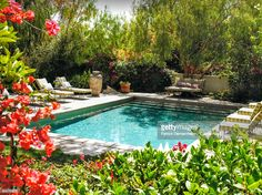 Photography by Patrick Demarchelier Apart from Carolina Herrera, Jr.'s Spanish digs, my favorite home in the fall/winter Vogue Living is Je. Outdoor Rooms, Outdoor Gardens, Outdoor Living, Outdoor Showers, Outdoor Ideas, Fresco, Square Pool, Rectangle Pool, Pool Water Features