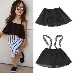 Awesome New 1Pc Girls Kids Baby Shoulderless Condole Belt Tutu Party Pageant Skirts Gift - $8.67 - Buy it Now!