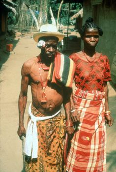 An Ozo titled man with his wife on the day of his installation, Agwa [Igboland], 1983. Photo by Herbert M. Cole.