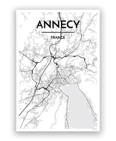 Annecy city center map Maps Pinterest City France and Buckets