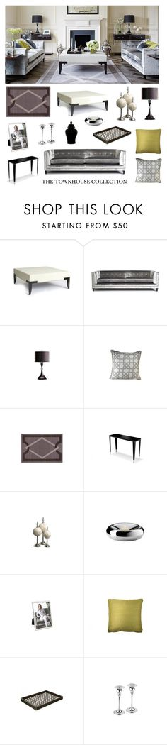"""""""The Townhouse Collection: Living Room"""" by luxdeco ❤ liked on Polyvore featuring interior, interiors, interior design, home, home decor, interior decorating and living room"""