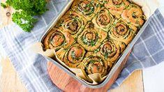 Suolainen bostonkakku retkelle tai illan iloksi – nämä herkkukierteet viedään käsistä - Ajankohtaista - Ilta-Sanomat Bread Recipes, New Recipes, My Favorite Food, Favorite Recipes, Ratatouille, Pesto, Zucchini, Baking, Vegetables