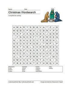 Wordsearch for adults printable christmas