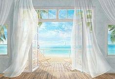 Sheer Curtains, Fresco, Terrace, Windows, Home Decor, Art, Balcony, Fresh, Decoration Home