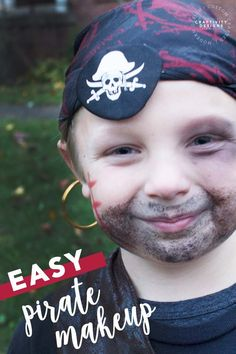 Learn how to do pirate makeup easily! This pirate makeup tutorial is the perfect addition to any pirate costume for Halloween. Pirate Makeup for Kids | Pirate Makeup for Halloween | Easy Pirate Makeup | DIY Pirate Costume | DIY Pirate Halloween Costume | DIY Pirate Makeup Educational Activities For Kids, Printable Activities For Kids, Halloween Activities, Family Activities, Easy Disney Costumes, Diy Halloween Costumes, Halloween Ideas, Modern Halloween, Pirate Halloween